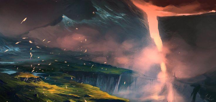 Alien world 4 by RedMorpho  #PolskaMalowana #sztuka #cyfrowa #digital #art #concept #fantasy #landscape #pejzaż