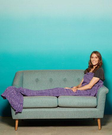 Look at this #zulilyfind! Purple & Pink Mermaid Tail Blanket - Adult…