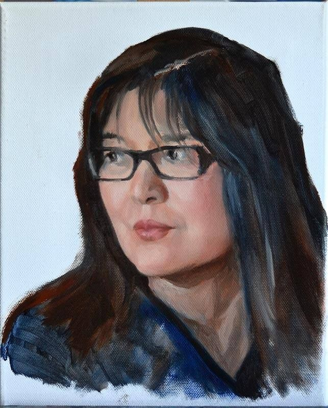 Peter Valve: My wife. Oil on canvas 24x30 cm