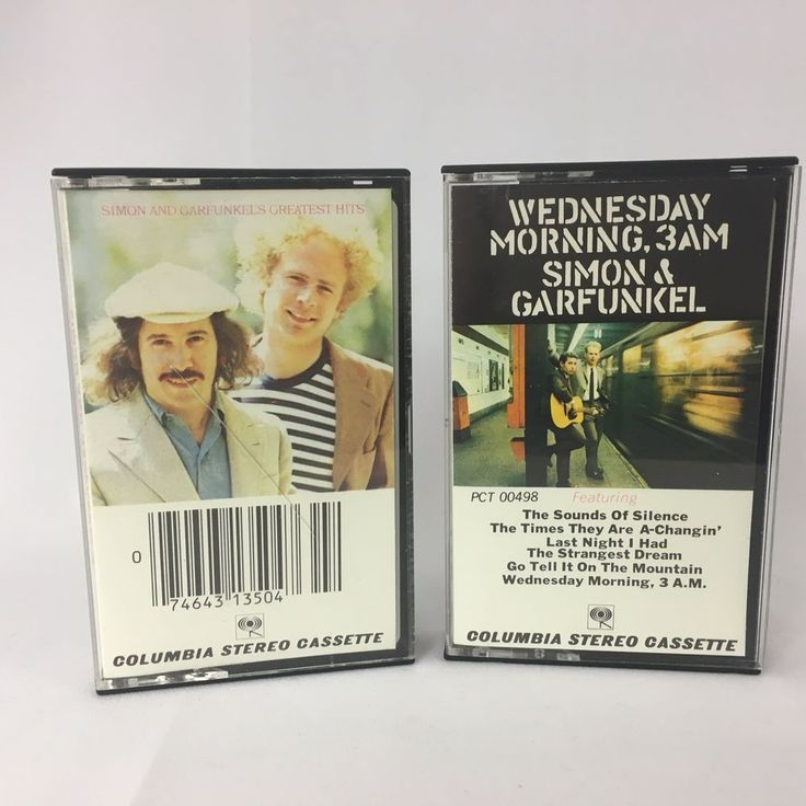 Simon and Garfunkel Greatest Hits and Wednesday Morning 3AM Cassette Tapes #1970s
