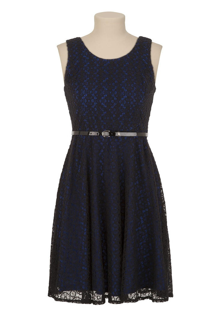 Maurices blue lace dress - Dress style