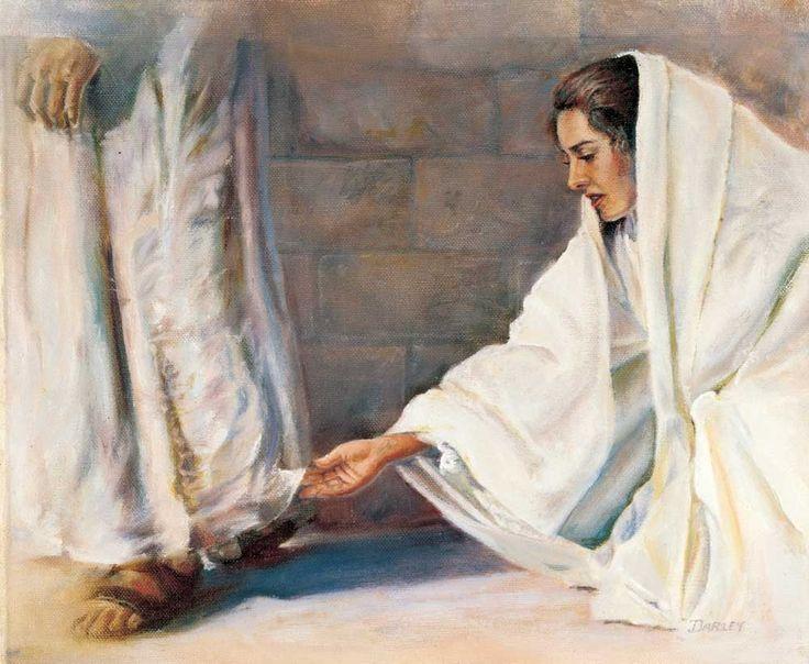 Woman Touches Jesus Hem of Garment