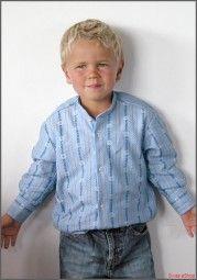 Kinder Edelweiss-Hemd ohne Kragen langarm Ahb / Children Edelweiss-collarless shirt longsleeve Ahb / A typical Swiss shirt for the kids. The shirt is made from a comfortable material.