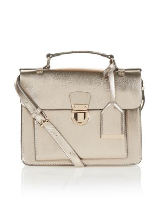 Dani Satchel Bag | Metallic | Accessorize