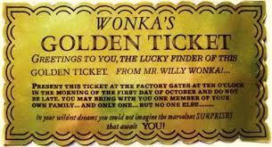 Image result for wording for golden ticket