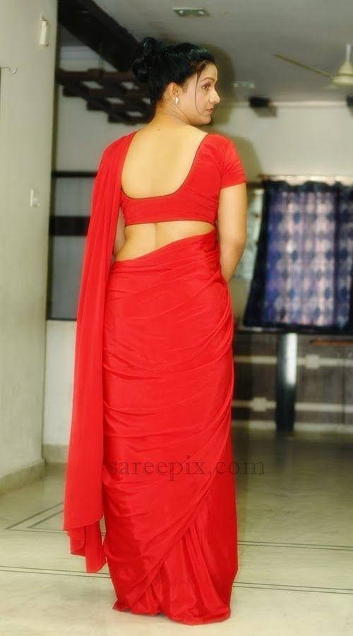 Apoorva aunty backless saree photos