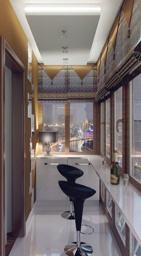 Стильный и уютный уголок на балконе