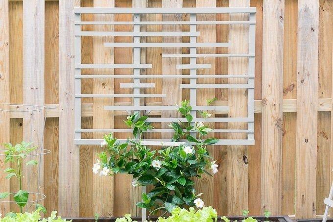 Learn How To Build A Trellis For Vines With My Diy Trellis Tutorial Modern Garden Trellis Diy Trellis Garden Trellis