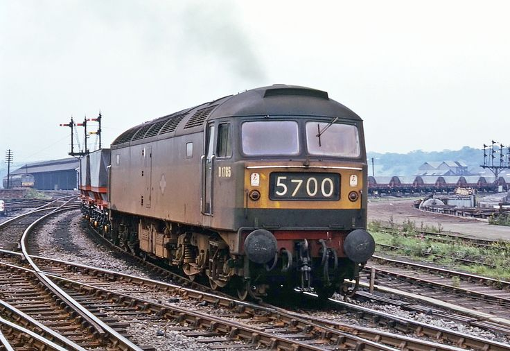D1765 approaches Wakefield Kirkgate on a test train of new MGR hoppers on 22nd July 1965. (Bill Wright)