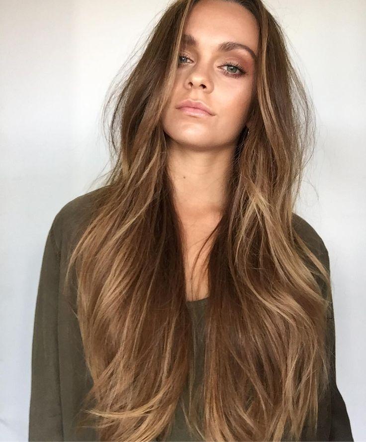 Long natural balayage painted hair