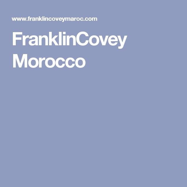 FranklinCovey Morocco