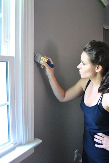 This is the future color for my master bedroom - Benjamin Moore Rockport Gray. Also, Sherry looks gorgeous in this picture! :)