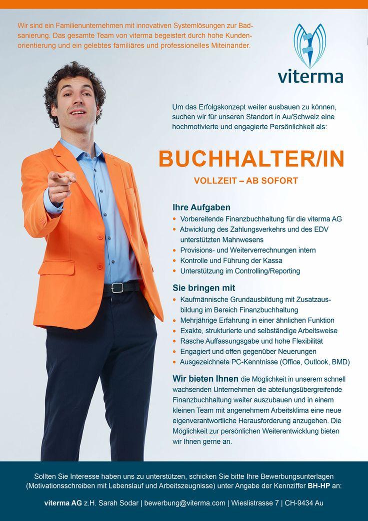 Um das Erfolgskonzept weiter ausbauen zu können, suchen wir für unseren Standort in Au/Schweiz eine hochmotivierte und engagierte Persönlichkeit als:  BUCHHALTER/IN VOLLZEIT – AB SOFORT