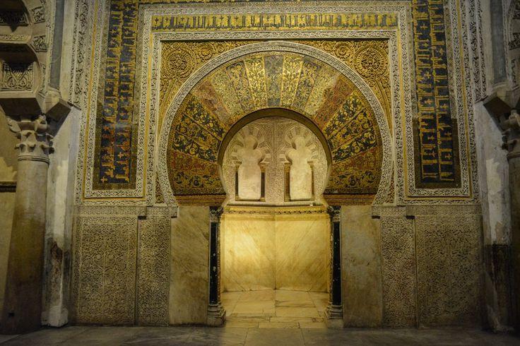 Die Mihrab in der Mezquita von Cordoba, UNESCO Weltkulturerbe in Spanien.