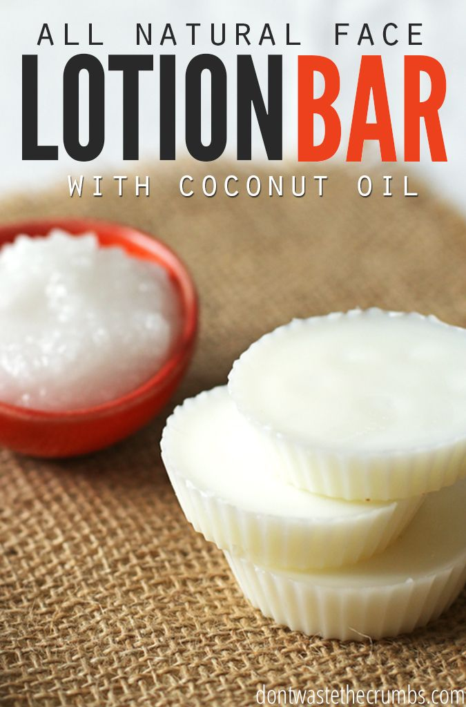 DIY: Homemade All-Natural Face Lotion Bar - only two ingredients plus your own added scent. A super easy recipe that takes only 20 minutes to finish! :: DontWastetheCrumbs.com