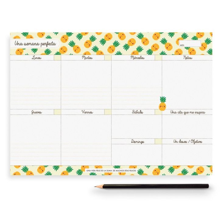 Pineapple Weekly Planner for my Painapol store by Charuca.