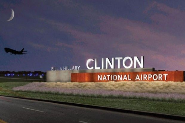 little rock sign ,president clinton home | ... Hillary Clinton National Airport in Little Rock. (Image by Entro G+A