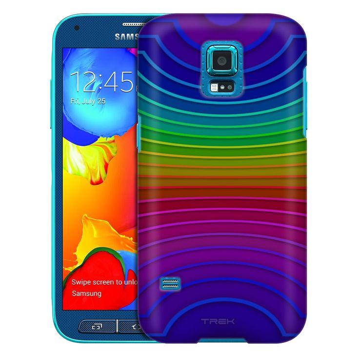 Samsung Galaxy S5 Sport Rainbow Color Wheel Trans Case