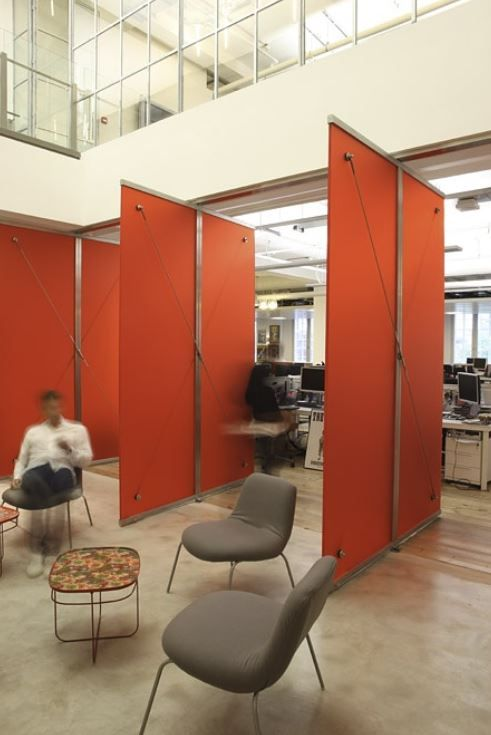 Sony Offices   Room Divider Panels