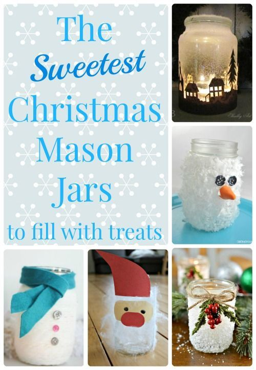 Such amazing Christmas mason jar crafts to fill with holiday treats!  Such a lovely way to make a homemade gift even more special!  www.HowWeeLearn.com