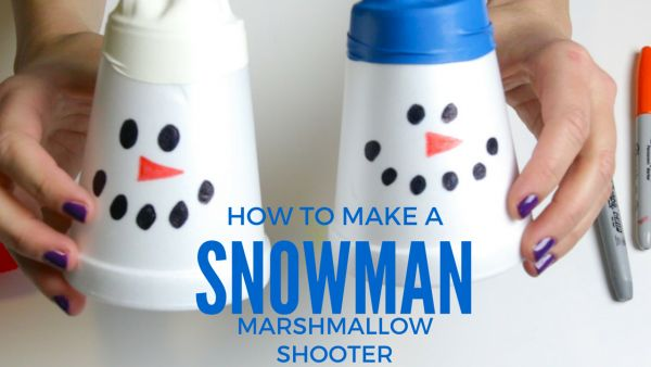 How to Make a Snowman Marshmallow Shooter
