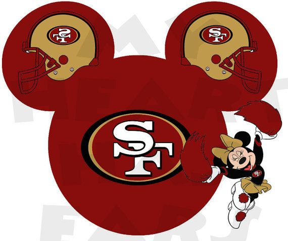 Printable DIY Minnie Mouse San Francisco 49ers By