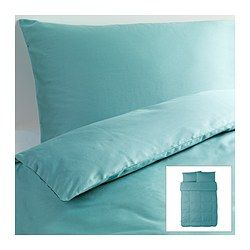 GÄSPA Duvet cover and pillowcase(s), turquoise - turquoise - Full/Queen (Double/Queen) - IKEA