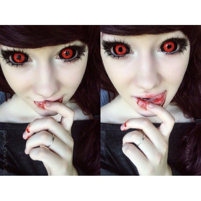 Tokyo Ghoul Cosplay - Phantasee Red Black Sclera Lens Gremlin