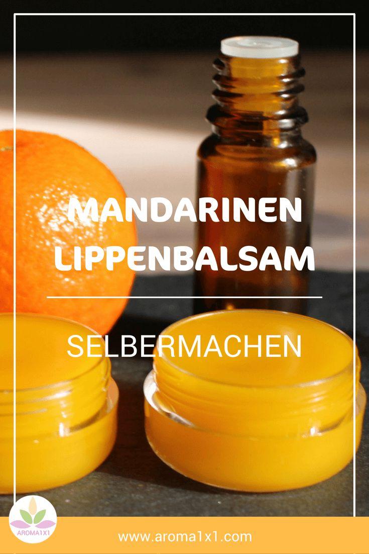 Raue Lippen ade! Dieser duftende DIY-Lippenbalsam mit ätherischem Mandarinenöl pflegt die zarte Lippenhaut mit Bienenwachs und Sheabutter. Die Lippen bleiben geschmeidig und glänzend.