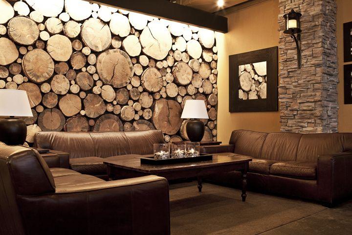 wood wall-- front porch bar denver, co