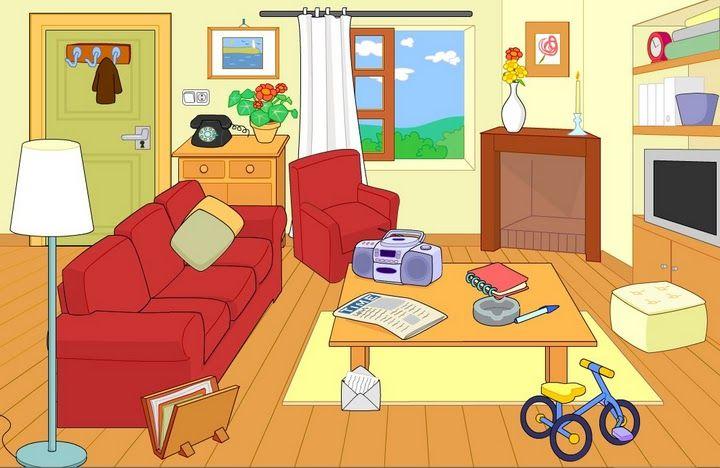 Maestra erika valecillo partes de la casa la casa y la for Dormitorio animado