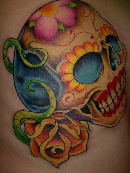 sweet sugar skull tattoo