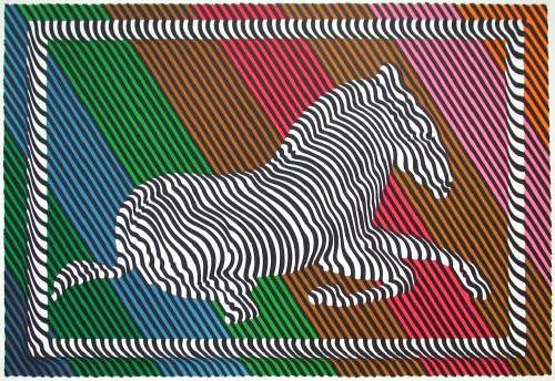 Zebra III by Victor Vasarely