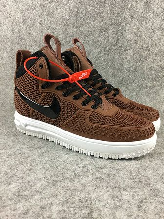 2018 How To Buy 2018 Nike Lunar Force 1 Duckboots High Men Sneakers Brown  Black 1e291853c635