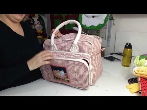 Mochila maternidade,em tecido de maneira fácil e rápida usando técnicas de patchwork.