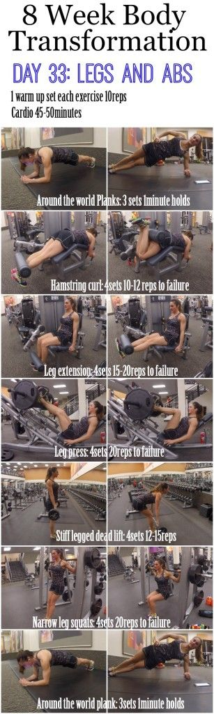 8 Week Body Transformation (Week 5, Day 33: Legs and Abs)
