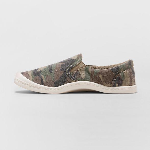 Canvas Flexible Bottom Sneakers - Green