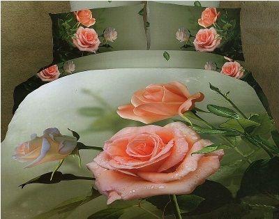 #Pościel_3D róża Pościel z trójwymiarowym efektem róż w spokojnej stonowanej kolorystyce.    Pościel wykonana z wysokogatunkowej satyny bawełnianej.  Produkt najwyższej jakości.  W skład pościeli 3 częściowej wchodzi:  poszwa  220 x 200 cm dwie poszewki 70 x 80 cm kasandra.com.pl