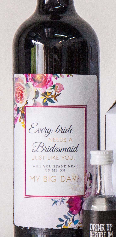 wine wedding shower gift poem%0A Every Bride Bridesmaid Wine Label