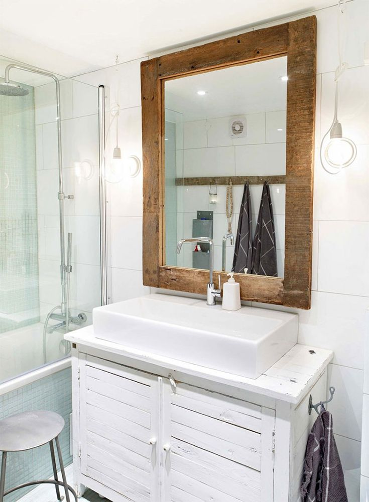 17 melhores ideias sobre Armário Vintage Para Pia Do Banheiro no Pinterest   -> Armario Banheiro Apartamento