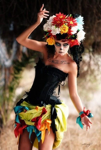 Catrina Day of the Dead. Mexican celebrations. Sugar Skull art,