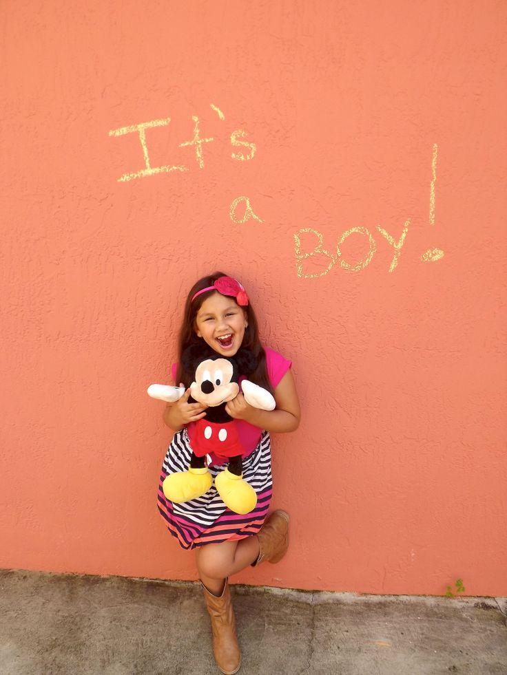 Disney gender reveal #bigsistertoalittlemister Mickey mouse