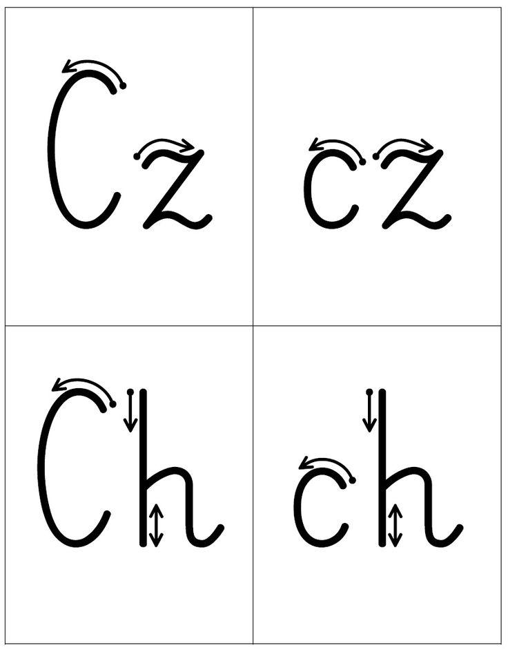 Kierunek kreślenia liter - dwuznaki Rz, rz Sz, sz Cz, cz Ch, ch Dz, dz Dź, dź Dż, dż