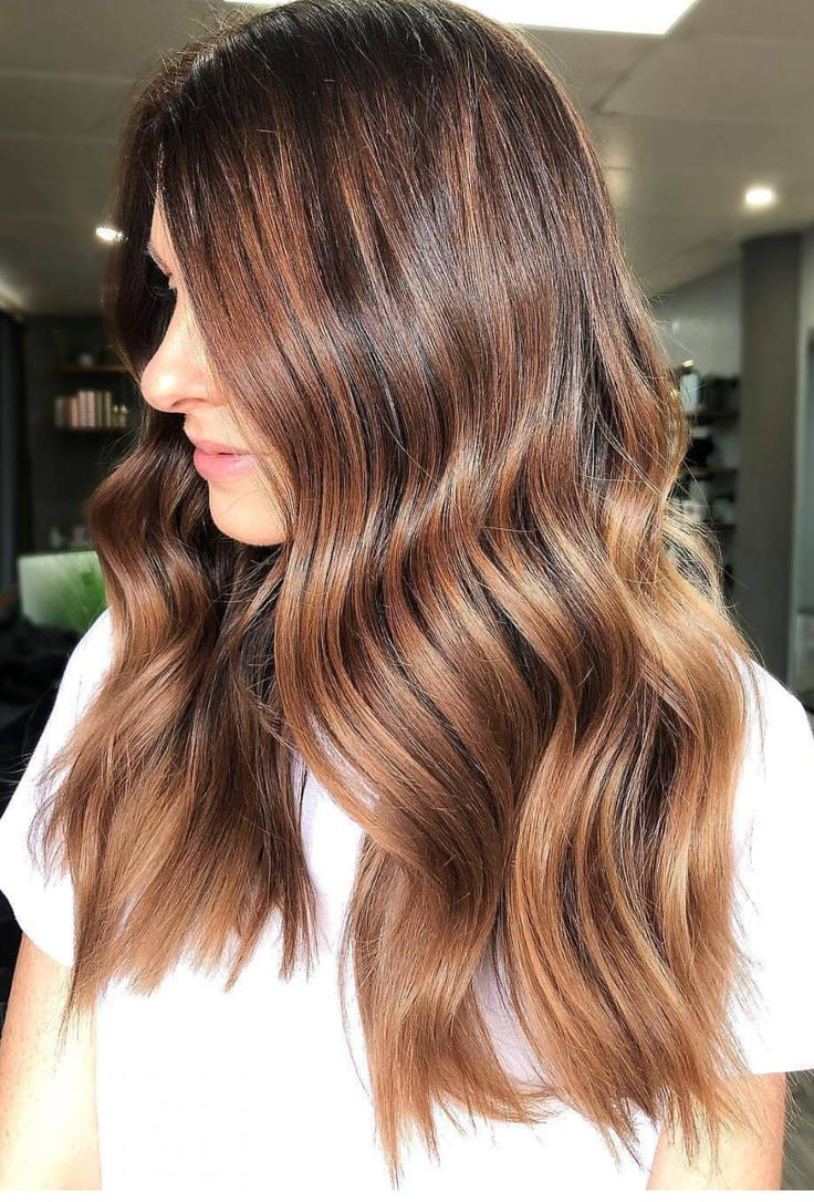 Pinterest: DEBORAHPRAHA ♥️ Gorgeous caramel balayage color #haircolor #hairstyles #hair