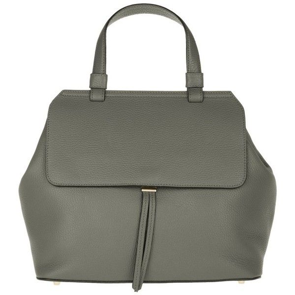 Abro Adria Leather Tote Bicolor Grey/Gold in grey, Handle Bags (£220) ❤ liked on Polyvore featuring bags, handbags, tote bags, grey, tote handbags, gold leather tote, grey leather purse, leather tote purse and leather tote
