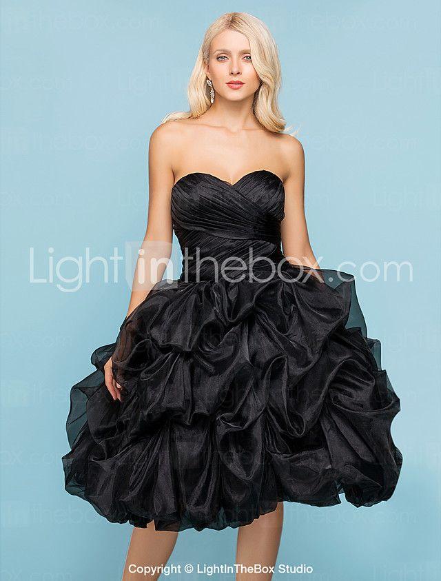 Lanting Bride® Ballkleid Extraklein / Übergrößen Hochzeitskleid - Schick & Modern / Glamurös & DramatischFarbige Brautkleider / Schwarze 2017 - €107.79