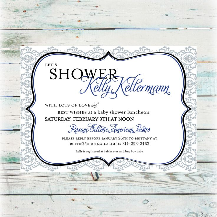 Words--Printable Baby Shower Invitation - Neutral Damask Baby Shower Invite - Digital File by BeyondDigital on Etsy https://www.etsy.com/listing/154555964/printable-baby-shower-invitation-neutral