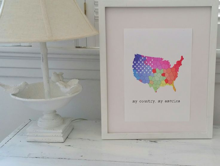 'My America' wall print - perfect for your child's room or nursery