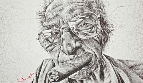 Scribble Pen Drawing : ✨ quick sketch pen drawing oksana rus youtube