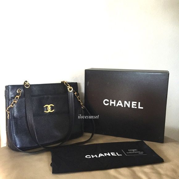 Additional pictures {CHANEL} Black Vintage Bag Please see the main listing for more pictures. Posh will authenticate it for you. Excellent pre-loved condition for a vintage bag. Comes with everything in the pictures: card, box, dust bag. ❗️Price is firm, even when bundled❗️  ❌ No Trades/ No PayPal  ❌ No Lowballing  ✅ Bundle Discounts ✅ Ship Same or Next Day  % Authentic CHANEL Bags Shoulder Bags